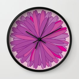 Big beautiful flower Wall Clock