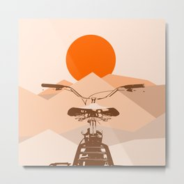 Bicycle in the sun Metal Print