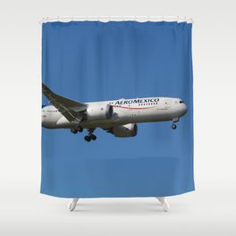 Aero Mexico Boeing 787 Shower Curtain