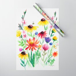Summer Wildflowers Wrapping Paper