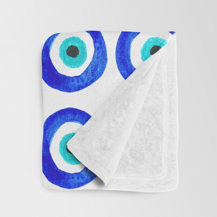 Evil Eye Amulet Talisman - on white Throw Blanket