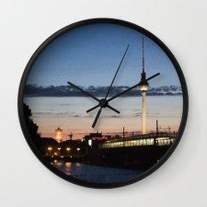 Berlin at night Wall Clock
