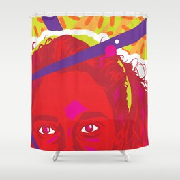 JESSIE :: Memphis Design :: Saved By the Bell Series Shower Curtain