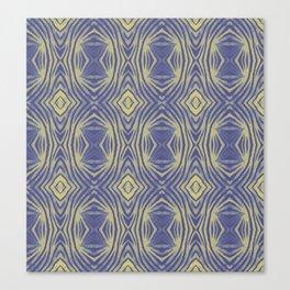 Tribal lines geometric pattern - Yellow & Blue Canvas Print