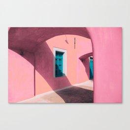 Pink Santorini Canvas Print