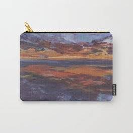 Purple sunset, travel painting Carry-All Pouch