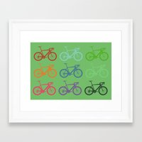 racing Framed Art Prints featuring Racing bicycle by Fabian Bross