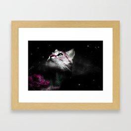 Supernova of the Ethereal Cat Framed Art Print
