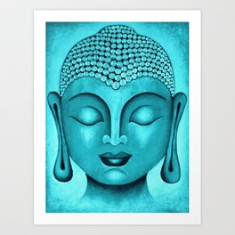 Turquoise Buddha Art Print