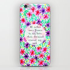 Flowers in my hair iPhone & iPod Skin