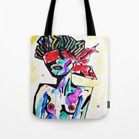 bondage Tote Bags featuring Bondage Watercolor by Red Dust