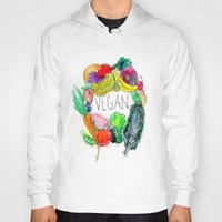 vegan Hoodies featuring Vegan  by BriannaCamp