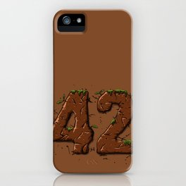 42 wood iPhone Case