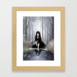 Ice mirror Framed Art Print