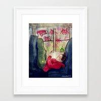 video games Framed Art Prints featuring Girls & Video Games by Danielle Feigenbaum