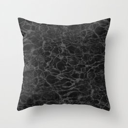 Black and White Fire Water Throw Pillow