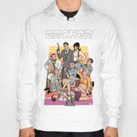 archer Hoodies featuring Archer by Alex Sollazzo