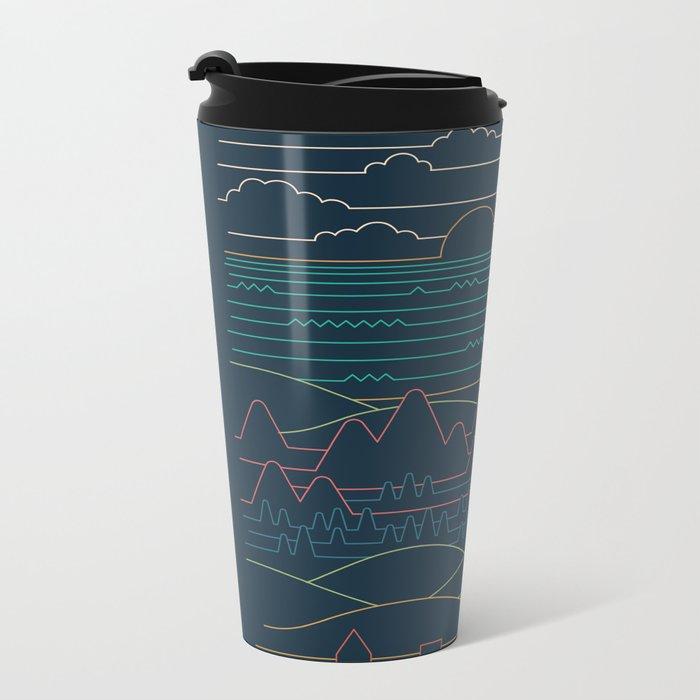 Linear Landscape Metal Travel Mug