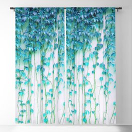 Average Absence, Botanical Minimal Nature Creepers Plants, Tropical Watercolor Bohemian Painting Blackout Curtain