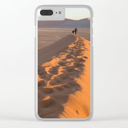 First Light on Dune 45 Clear iPhone Case