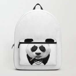 Panda in Black Backpack