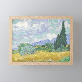 Vincent van Gogh - Wheat Field With Cypresses Framed Mini Art Print