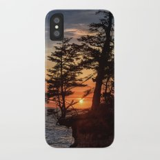 Sunset through the Trees iPhone X Slim Case
