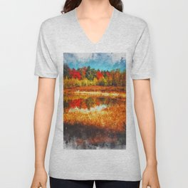 Autumn in New England Unisex V-Neck