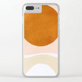 Boho Sun Clear iPhone Case