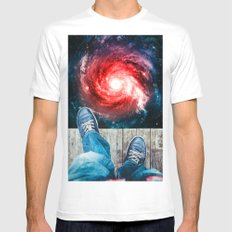 Edge Of The Universe MEDIUM Mens Fitted Tee White