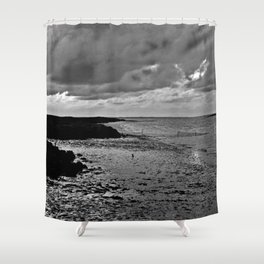 River to the open Danish Sea Shower Curtain