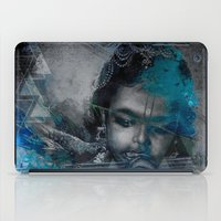 hindu iPad Cases featuring Krishna The mischievous one - The Hindu God by sarvesh
