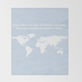 Dr. Seuss inspirational quote with earth outline Throw Blanket