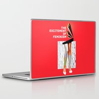 feminism Laptop & iPad Skins featuring 1920's Feminism by Profunction
