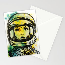 Space Woman Stationery Cards