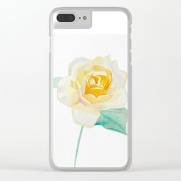 Rose of Sunshine Clear iPhone Case
