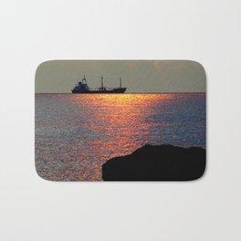 Sunset in Curacao Bath Mat