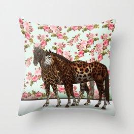 Leopard Horses Throw Pillow