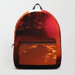 Red Foggy Sunrise Backpack