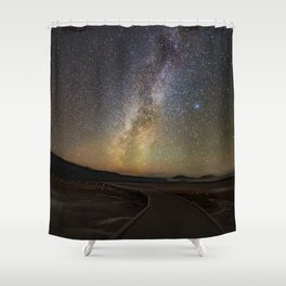 Grand Prismatic Spring Under The Milky Way Shower Curtain