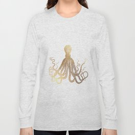 Gold Octopus  Long Sleeve T-shirt
