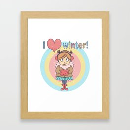 Winter Cutie Framed Art Print