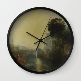 Dido Building Carthage J. M. W. Turner Wall Clock