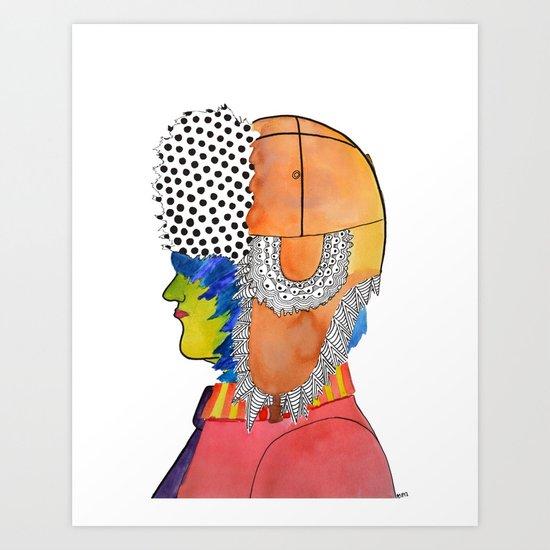 Trapper Hat Art Print