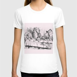 Blush pink - mad hatter's tea party T-shirt
