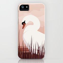 Swan in Dawn iPhone Case