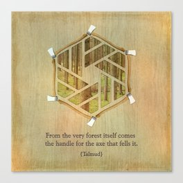 Forest & Axe — Illustrated Quote Canvas Print