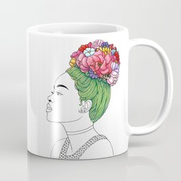 Flowered Hair Girl 3 Coffee Mug