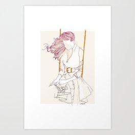 Balancelle Art Print