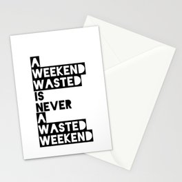 A Weekend Water (Black) Stationery Cards